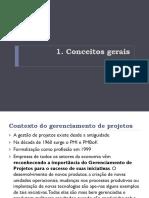 Conceitos Gerais gestão de projeto