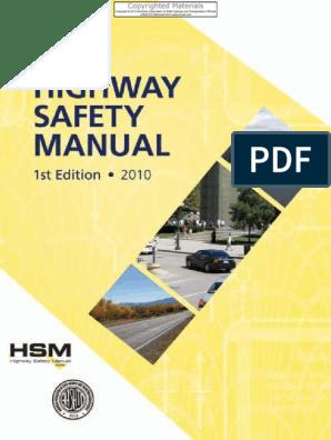 Highway_Safety_Manual pdf | Traffic Collision | Traffic