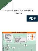 Admission Criteria Dengue Fever