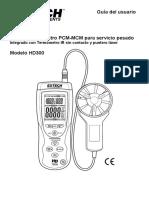Manual Termo Anemometro HD300