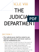 Article Viii Judicial Department