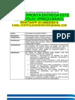 Portfólio Gestão Publica Temos a Pronta Entrega Whatsapp 91988309316