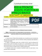 Portfólio Serviço Social 4 e 5 Temos a Pronta Entrega Whatsapp 91988309316