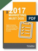 2017 Marketing Must Dos