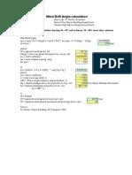 Wind Drift Angle Calculator