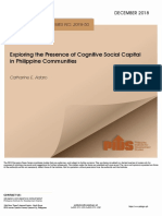 Exploring the Presence of Cognitive Social Capital in Philippine Communities
