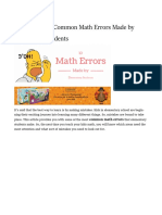 How to Avoid Silly Maths Mistakes - 2