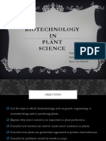 Biotechnology in Plant Science
