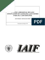 ENSAYO Politica de Investigacion y Desarrollo Regional Alemana(1)