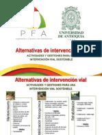 Alternativas Intervencion Vial Costos PFA - UdeA