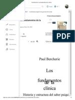 Paul Bercherie, Los Fundamentos de La Clínica