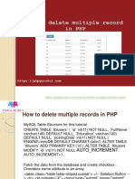 how to delete multiples records in php