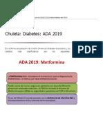Chuleta. Diabetes. Ada 2019