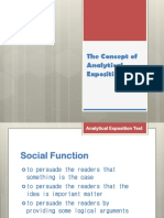 The Concept of Analytical Exposition Text