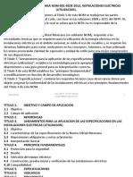Descripción, Manejo y Aplicación de La Nom-001-Sede-2012