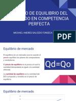 Modelo de Equilibrio Del Mercado Perfecto