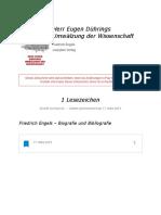 """Notizen Aus """"Herr Eugen Dührings Umwälzung Der Wissenschaft"""""""