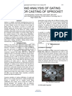 Design and Analysis of Gating System for Casting of Sprocket