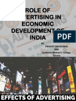 Role of Advertising in Economical Development