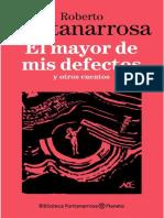 El mayor de mis defectos- Roberto Fontanarrosa