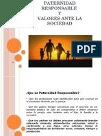 Paternidad Responsable Y Valores Ante La Sociedad