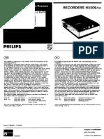 Philips n2209-00 Transistorized Cassette Recorder 1971 Sm