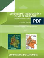 CORDILLERAS, HIDROGRAFÍA Y CLIMA DE COLOMBIA.pptx
