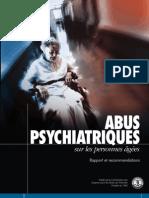 Abus Psychiatriques sur les Personnes Âgées