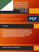 Presentasi Jurnal Sistem Antrian RS