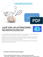 ALTERACIONES NEUROPSICOLOGICAS(1)