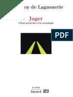 eBook Geoffroy de Lagasnerie - Juger Letat Penal Face a La Sociologie