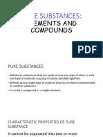 Pure Substances