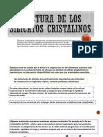 Estructura de Los Silicatos Cristalinos
