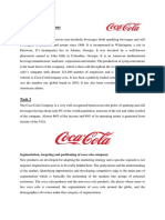 Assignment Coca Cola