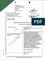 Jennifer Francis v. City of Los Angeles (LAPD) 18 08-17 Francis Motion for sanctions.