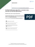 Shuffled Frog Leaping Algorithm a Memetic Meta Heuristic for Discrete Optimization