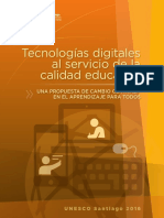 Unesco Tecnologias Digitales Al Servicio de La Calidad Educativa