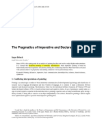 On Declarative Pointing (Brinck) (Reading)