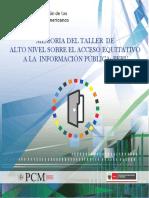 8. Memoria del Taller de Alto Nivel Acceso Equitativo a la Información Pública - Perú.pdf
