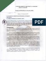 ORDENANZA MUNICIPAL N° 016-2012-MPA