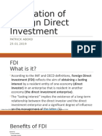 Regulations of Foreign Direct Investment (FDI)
