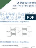 Aplicação e Acionamentos de Máquinas - 05 Dispositivos de Controle de Máquinas
