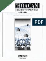 Michoacán  Datos por ejido y comunidad agraria 1997.pdf