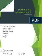 examen matematicas administrativas