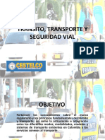 Curso Transito, Transporte y Seguridad Vial