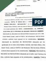 El Tribunal Electoral ratificó su fallo y exige que la UCR vaya a internas