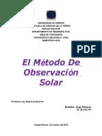 Observacion Solar -JORGE PEÑALVER-.