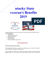 Vet State Benefits - KY 2019