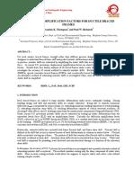 Deflection Amplification Factor for Ductile Braced Frame