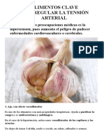 10 Alimentos Clave Para Regular La Tensión Arterial (word)